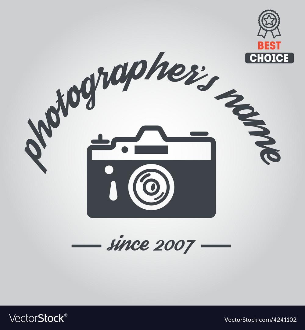 Logo badge emblem or label for photograph