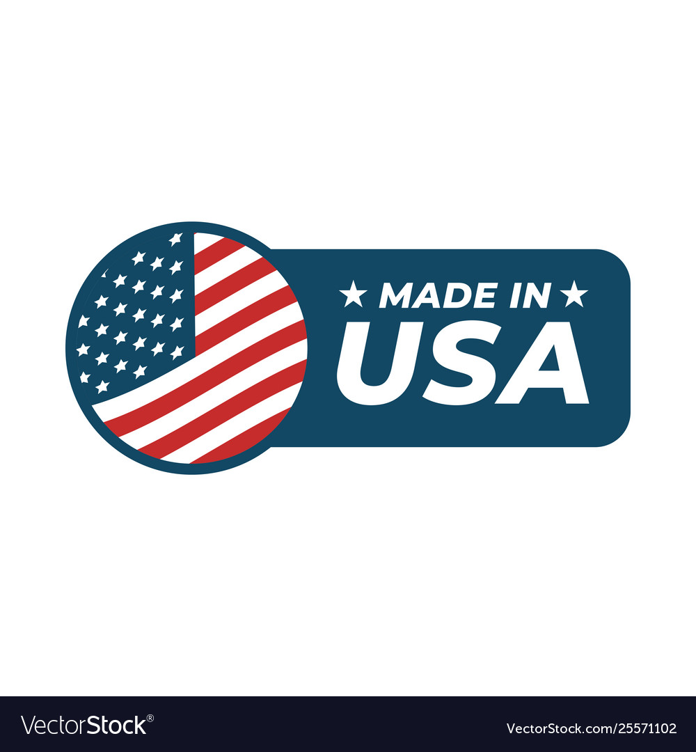 Made in usa badge isolated on white background