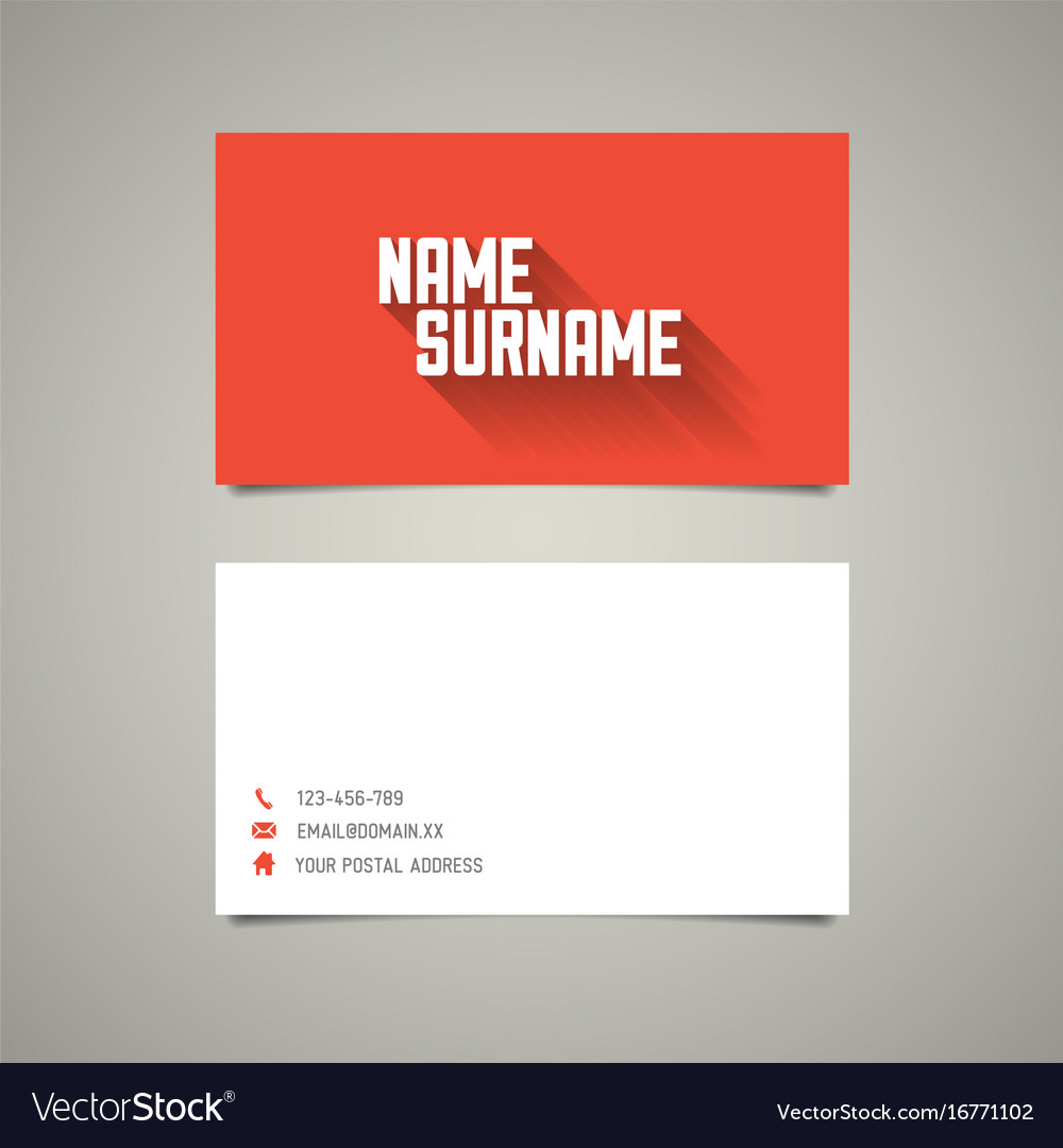 modern simple business card template with long vector image