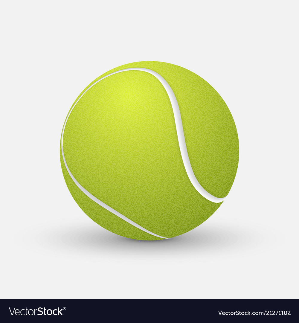 Realistic Tennis Ball Royalty Free Vector Image