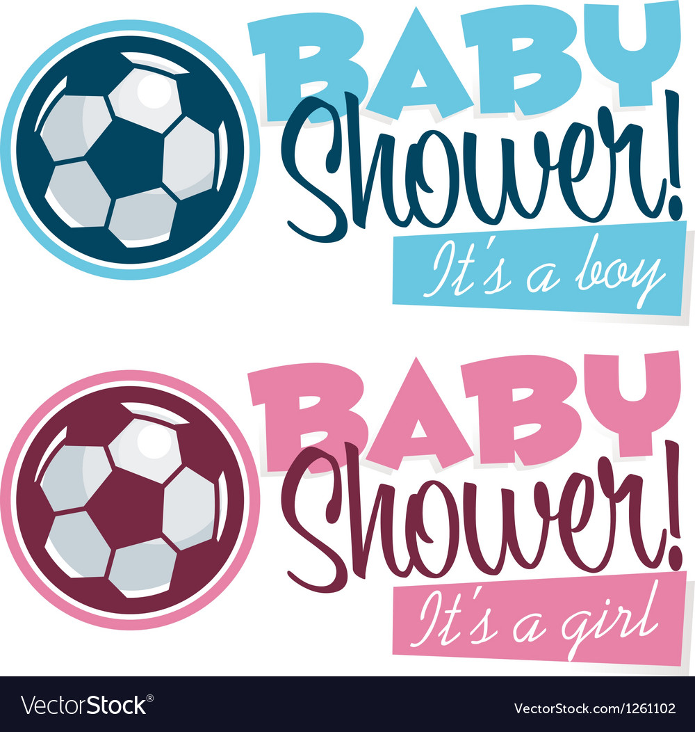 Soccer Baby Shower Banners vector image