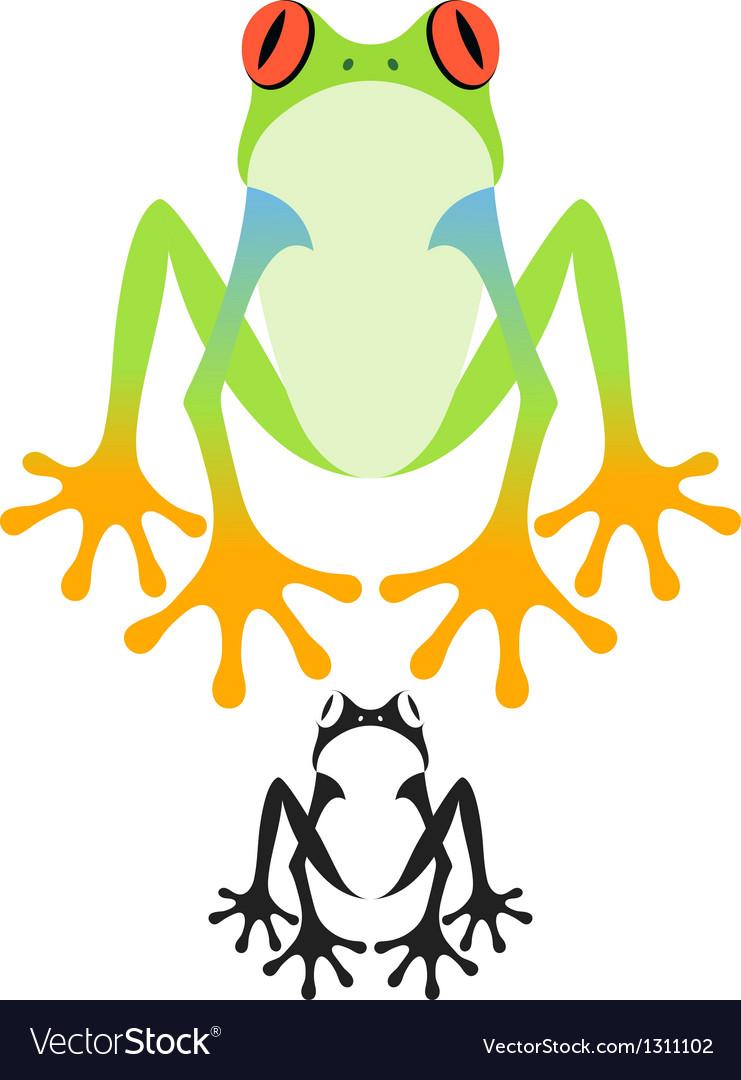 tree frog royalty free vector image vectorstock rh vectorstock com Tree Frog Decals Purple Tree Frog