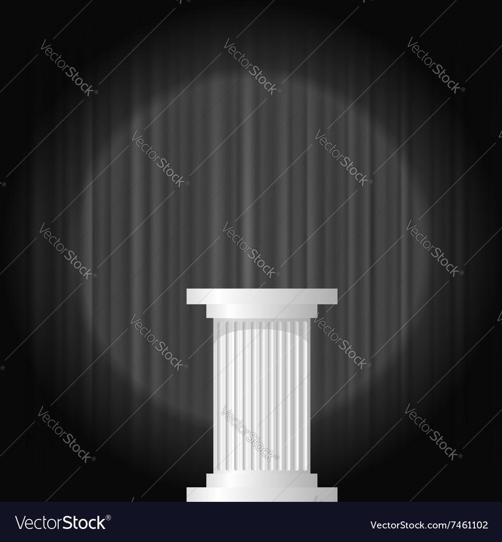 White Marble Greek Column vector image