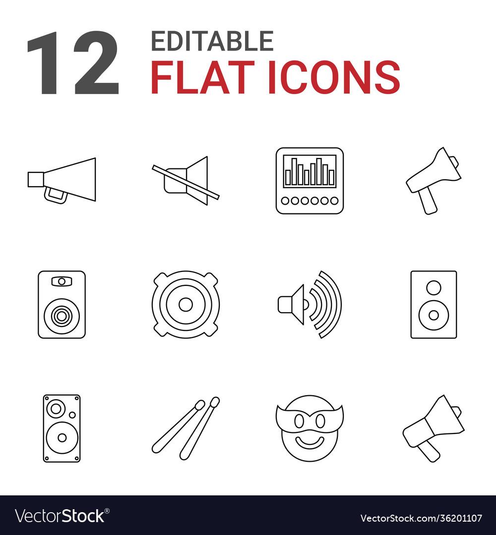 12 loud icons