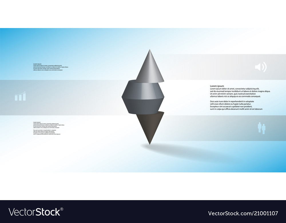 3d infographic template with spiked cone