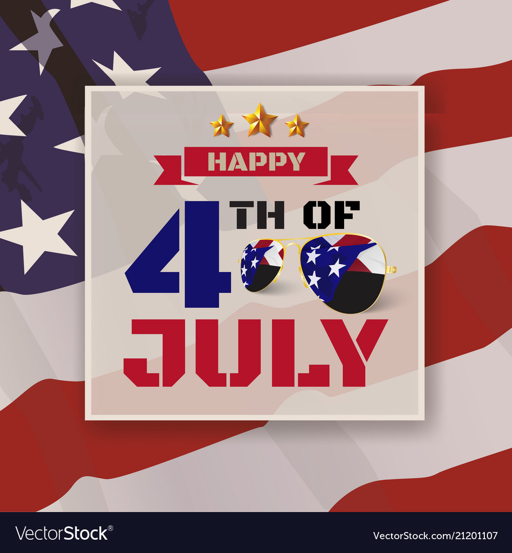 4th july greeting card background