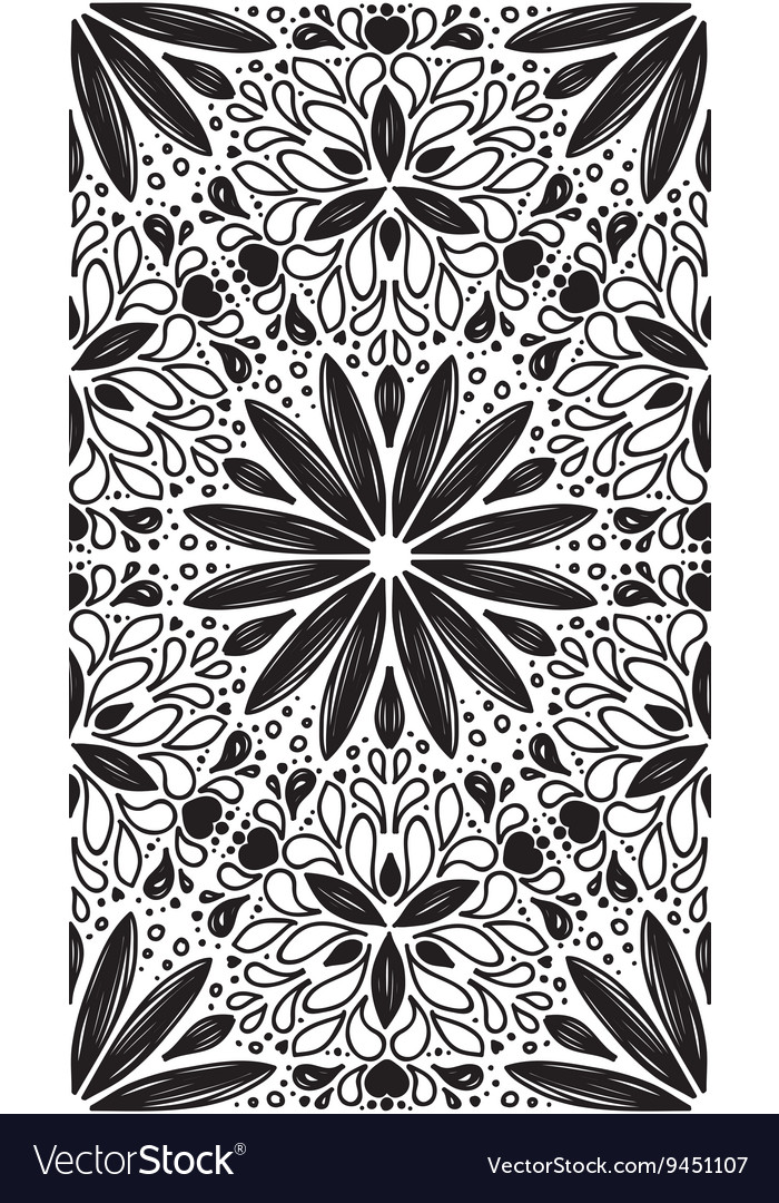 Abstract geometric seamless pattern with hand drow