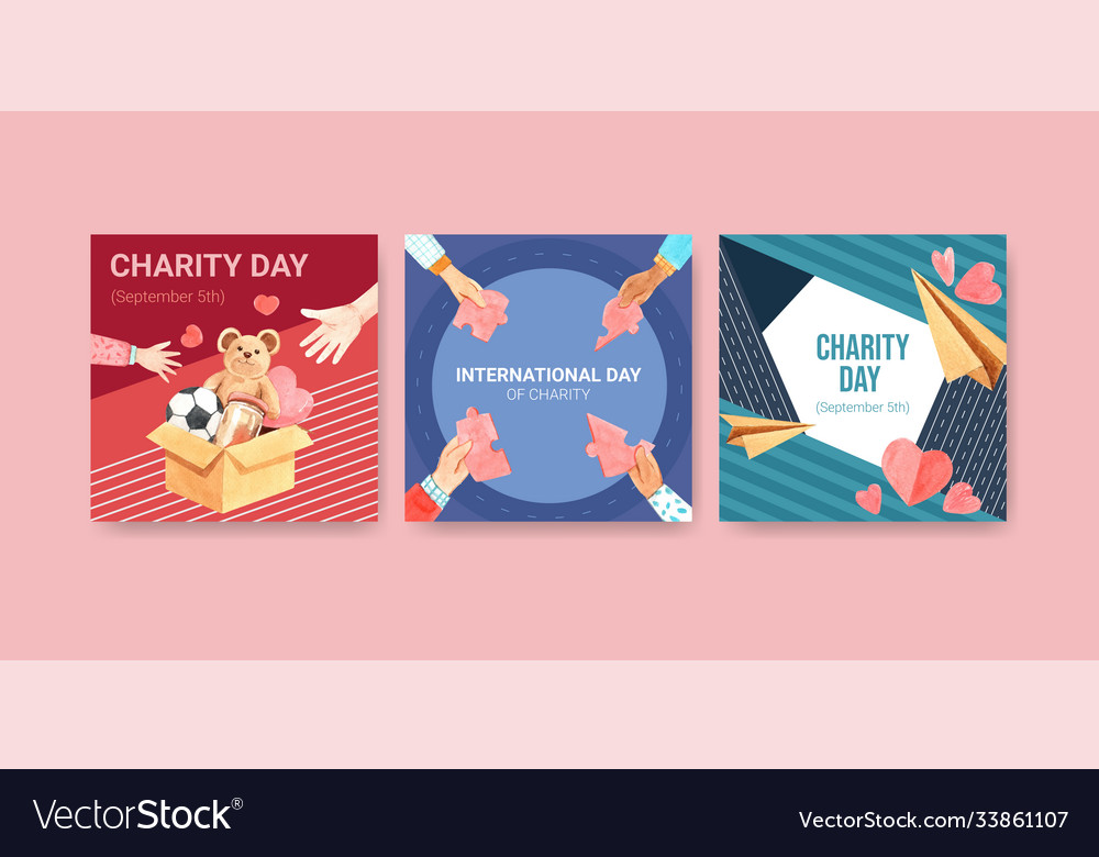 Ads template with international day charity