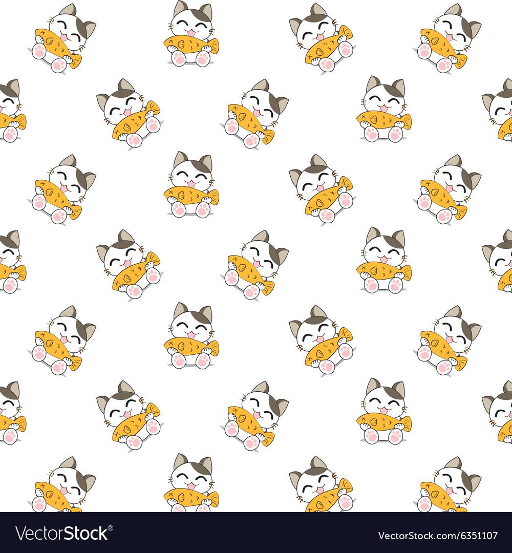 Cute Cartoon Cats Pattern