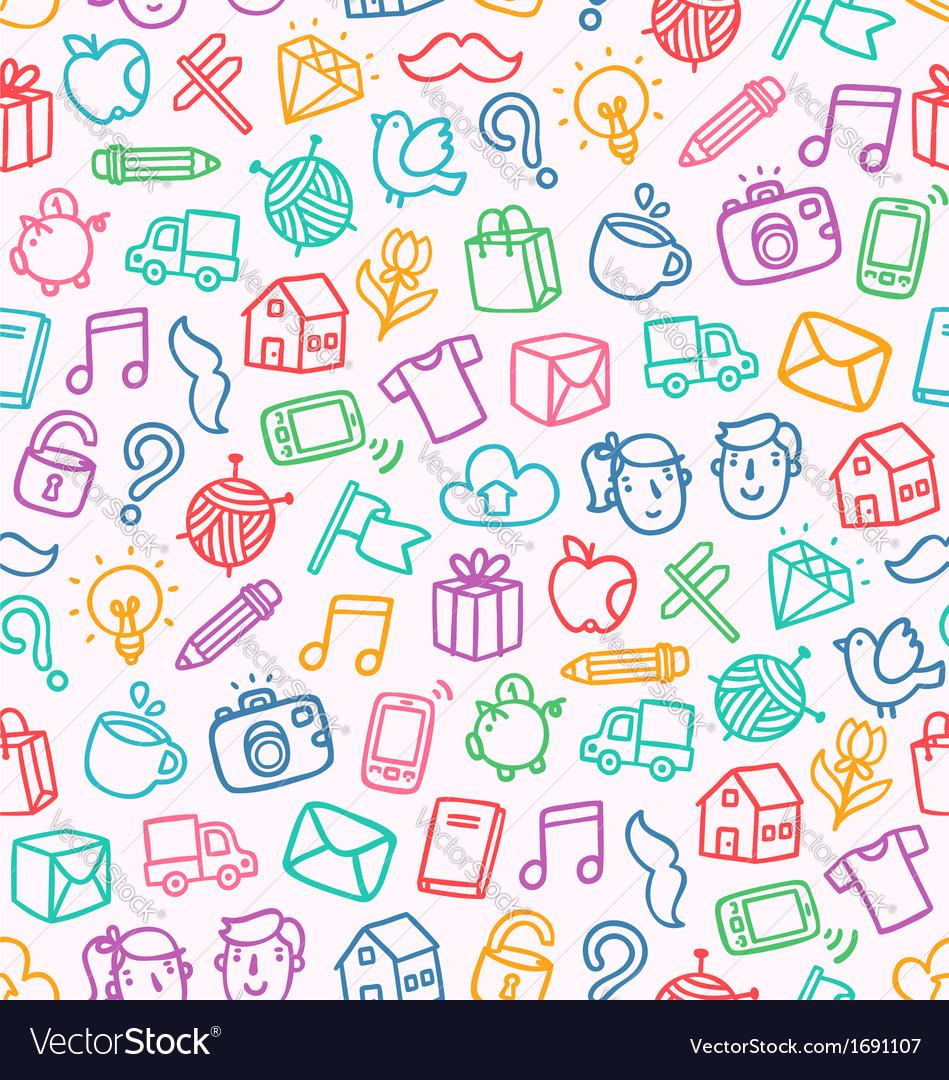 Miscellaneous doodle pattern