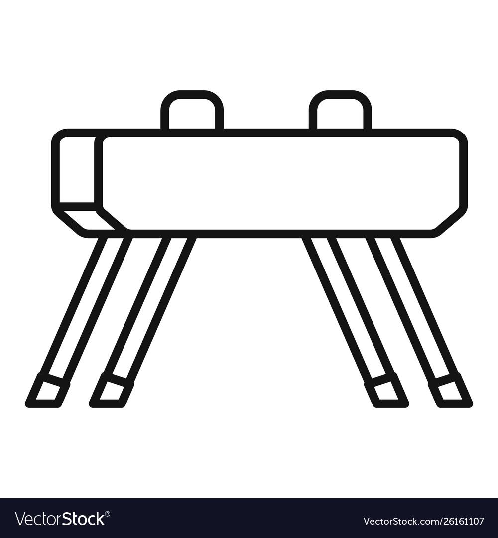 Pommel horse icon outline style