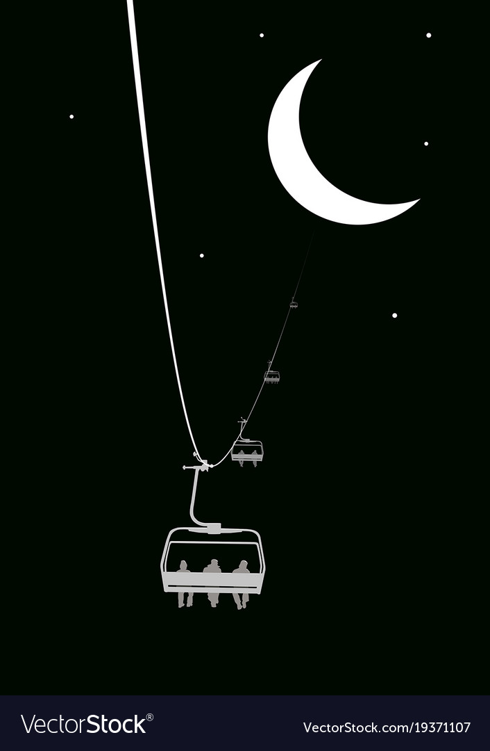 Ropeway to the moon