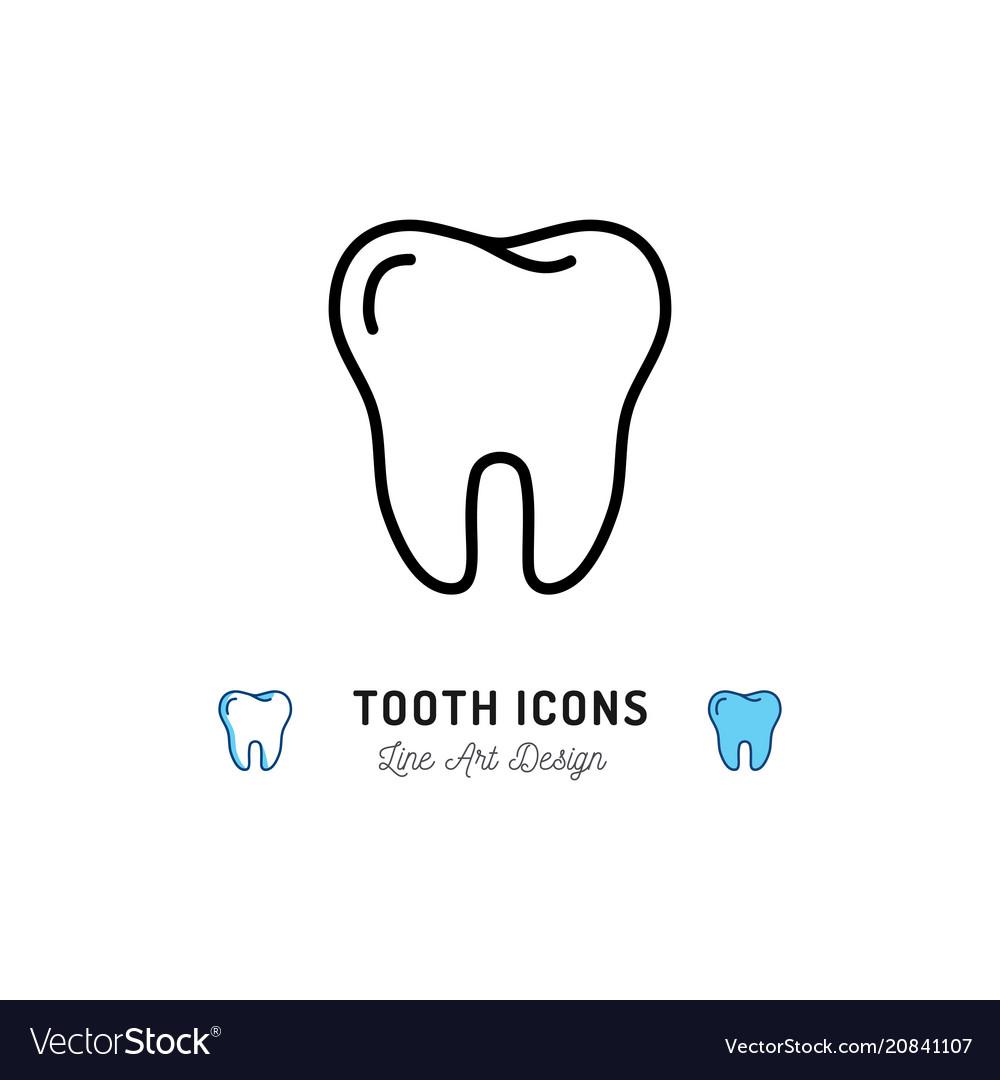 Tooth Icon Teeth Sign Dental Care Logo Dental Vector Image