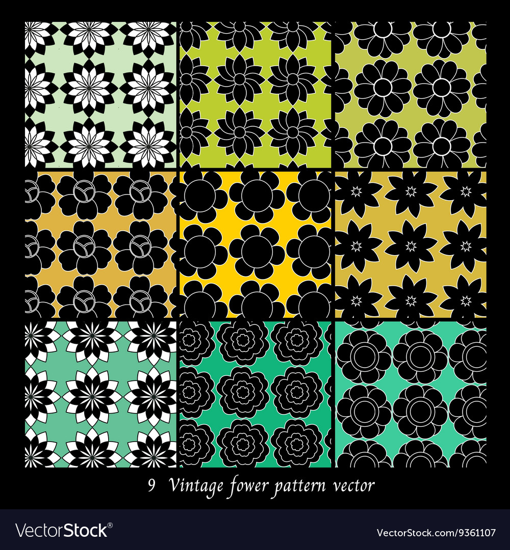 Vintage fower pattern