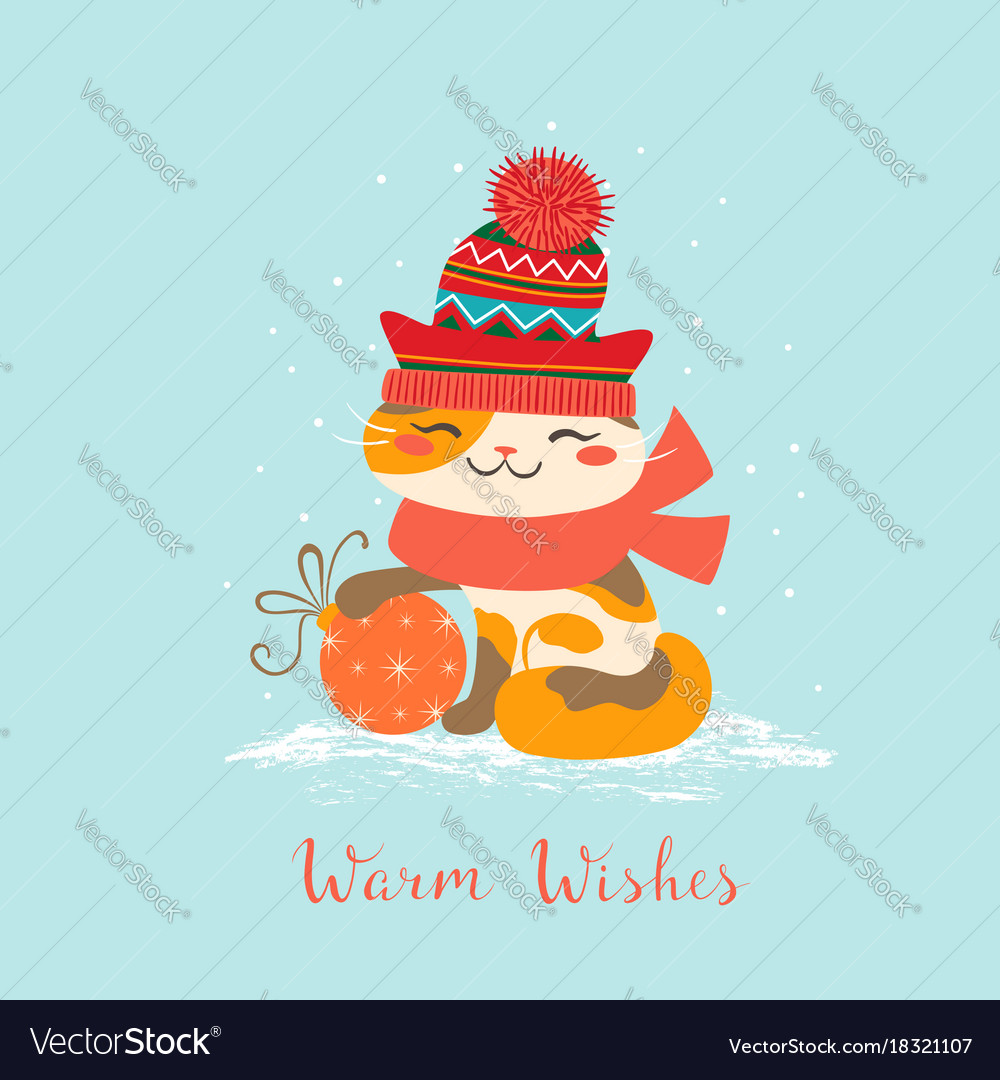 Warm wishes cat