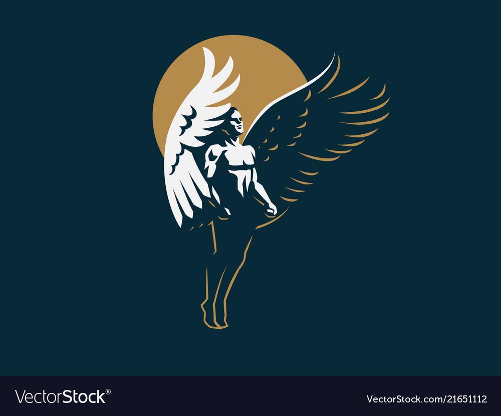Angel man emblem