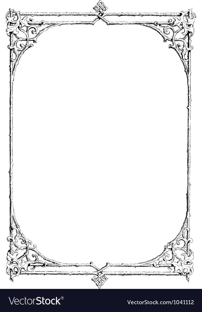 Art nouveau Frame Royalty Free Vector Image - VectorStock