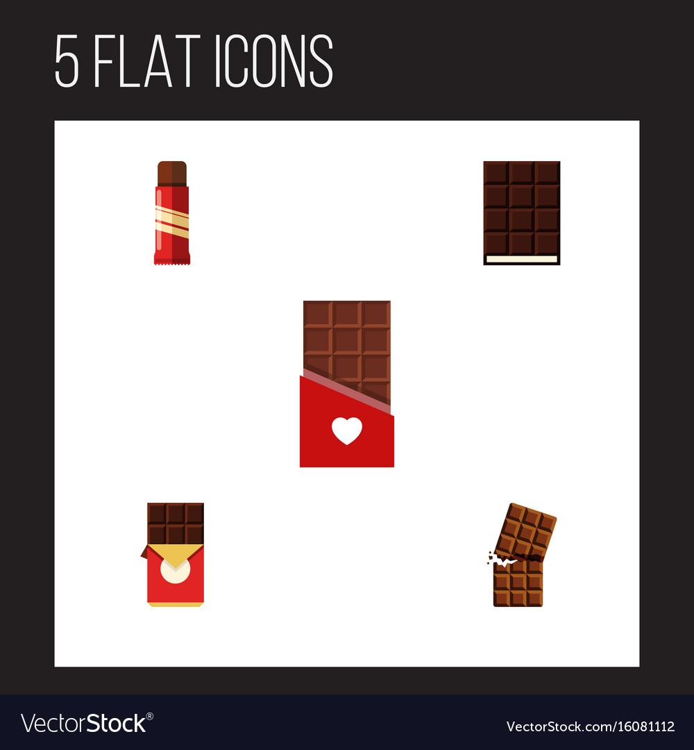 Flat icon bitter set of dessert sweet chocolate