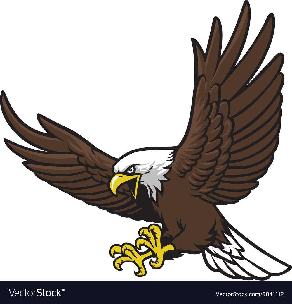 Flying eagle mascot royalty free vector image vectorstock flying eagle mascot vector image altavistaventures Image collections