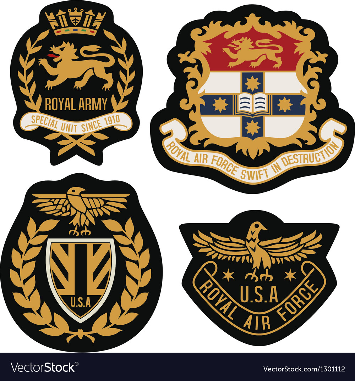 Heraldic emblem badge shield