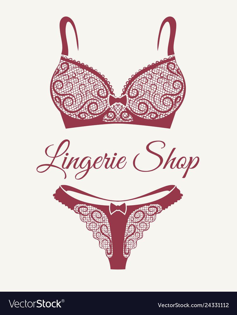 Lingerie shop retro emblem