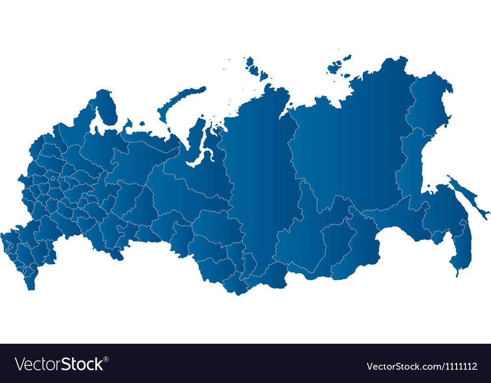 Map of the Russian Federation Royalty Free Vector Image