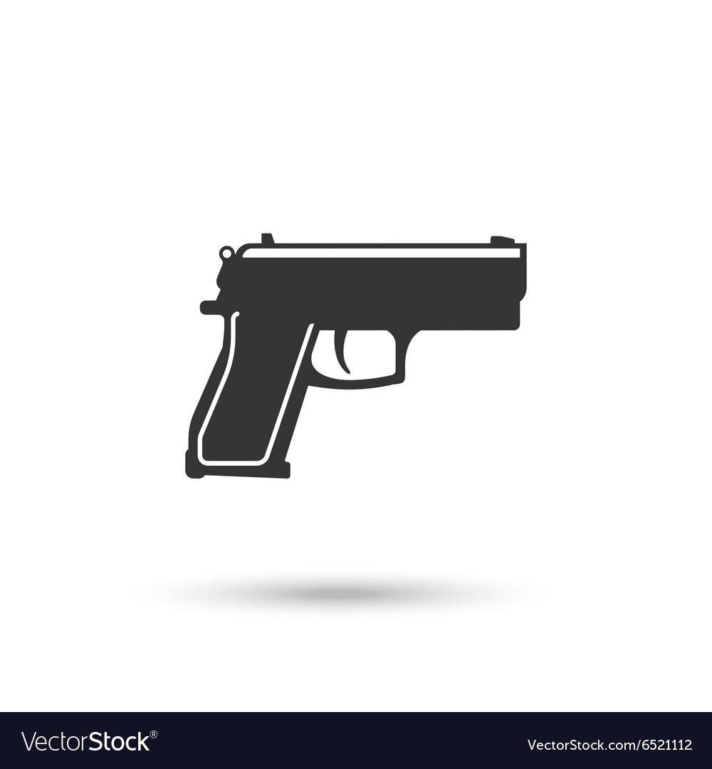 pistol or hand gun icon royalty free vector image vectorstock