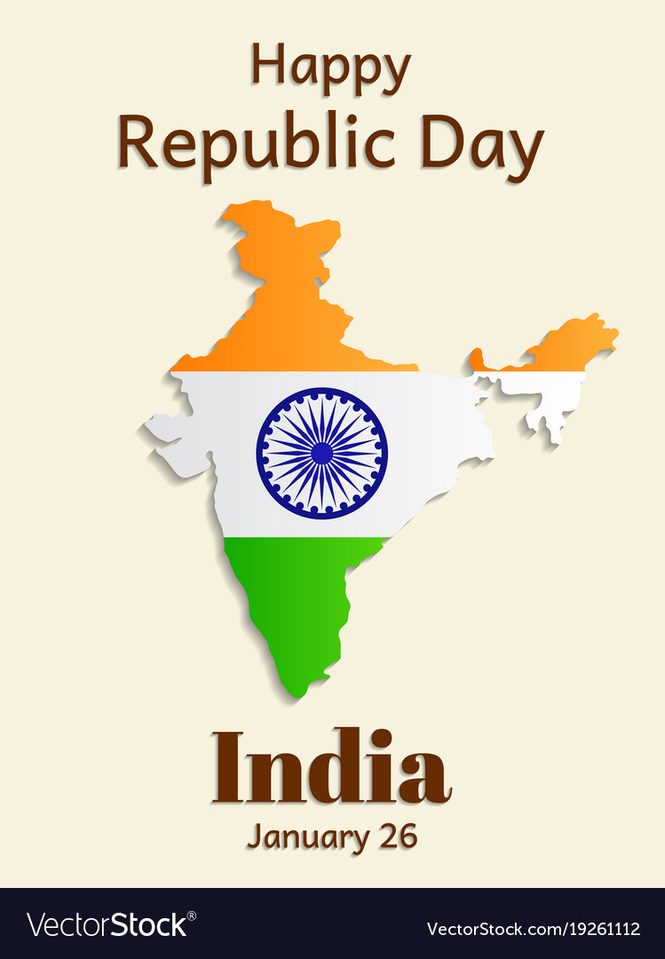 Republic day in india is a greeting card or vector image m4hsunfo