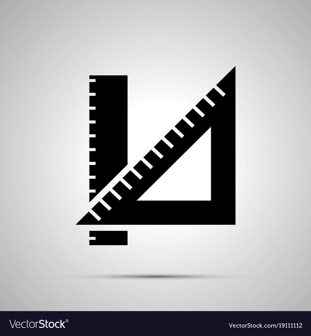 School ruler silhouette simple black icon