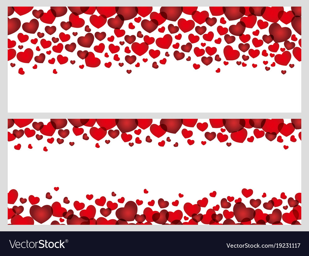 A set of seamless frames for valentines day Vector Image