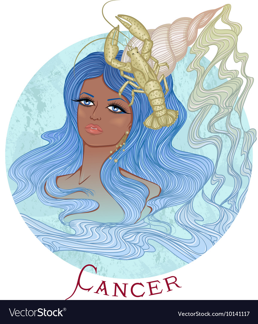 Astrological sign of Cancer as a african girl