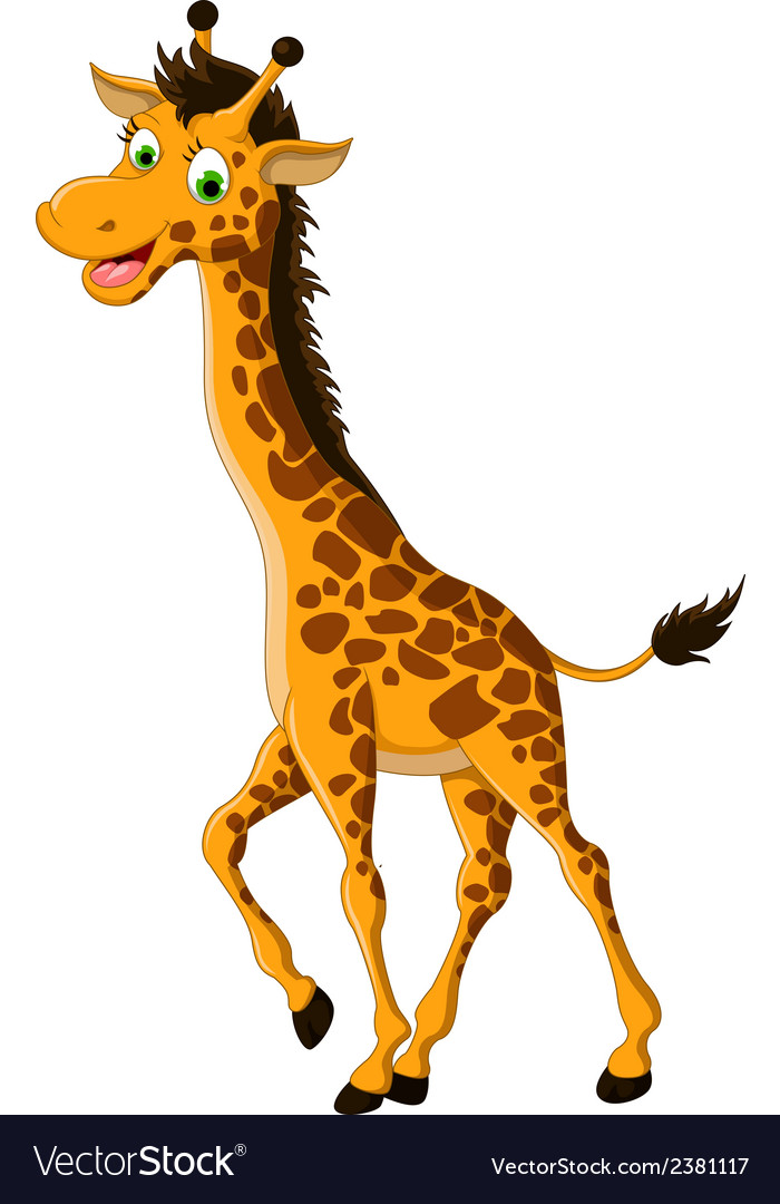 Cute giraffe cartoon smiling Royalty Free Vector Image