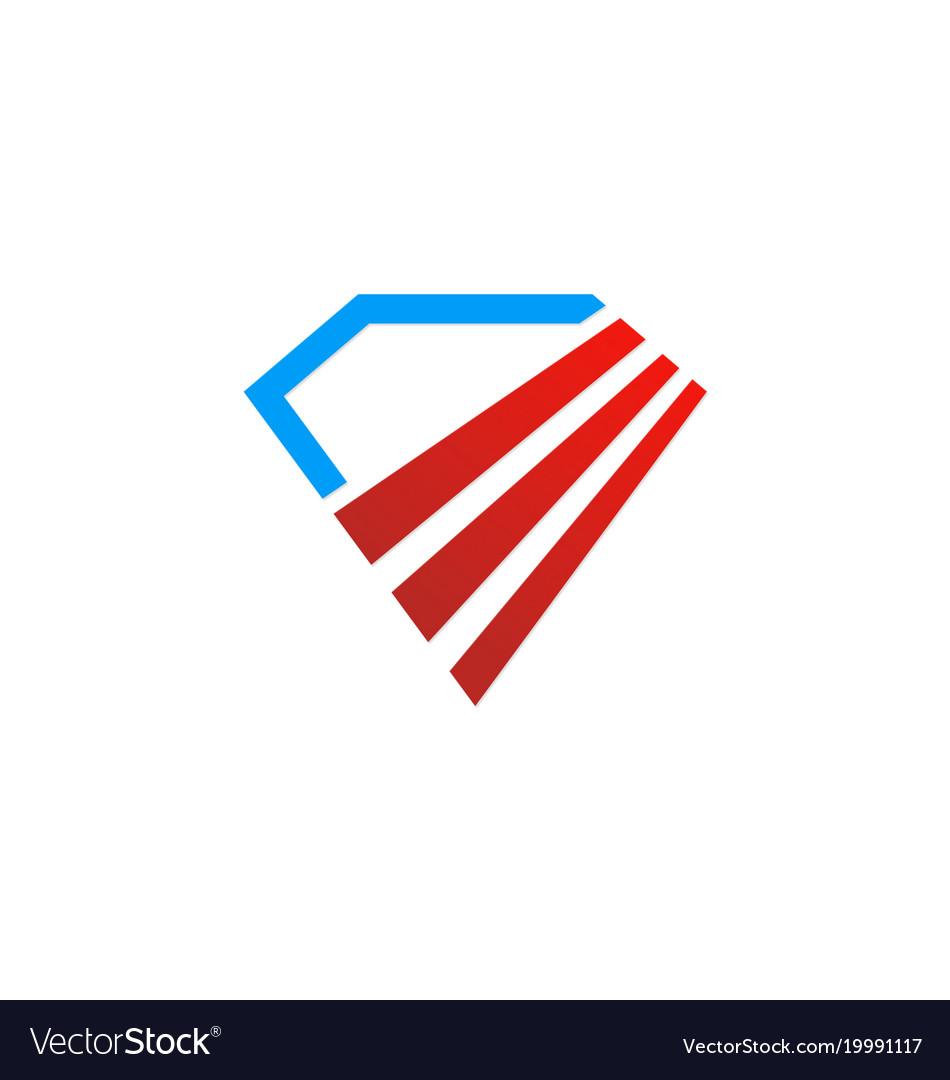 Diamond abstract shape logo
