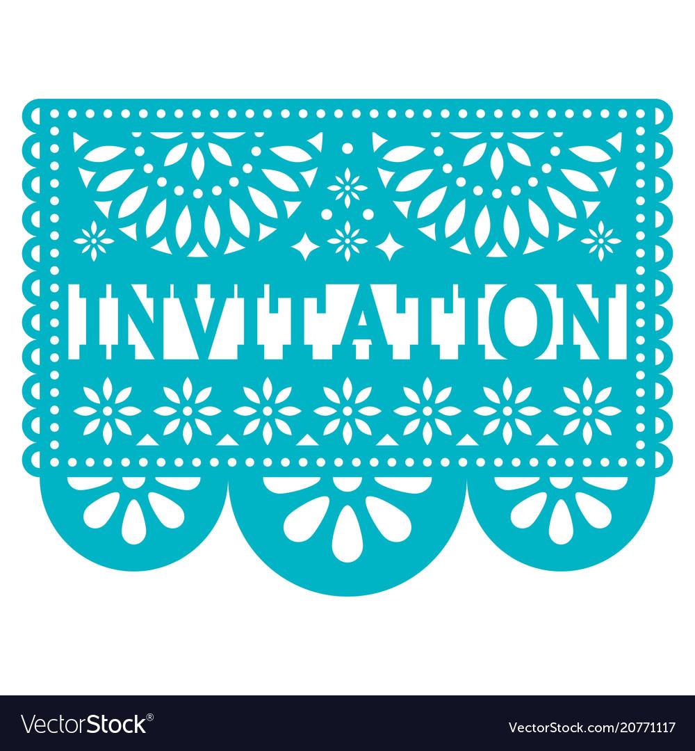 Invitation Papel Picado Design
