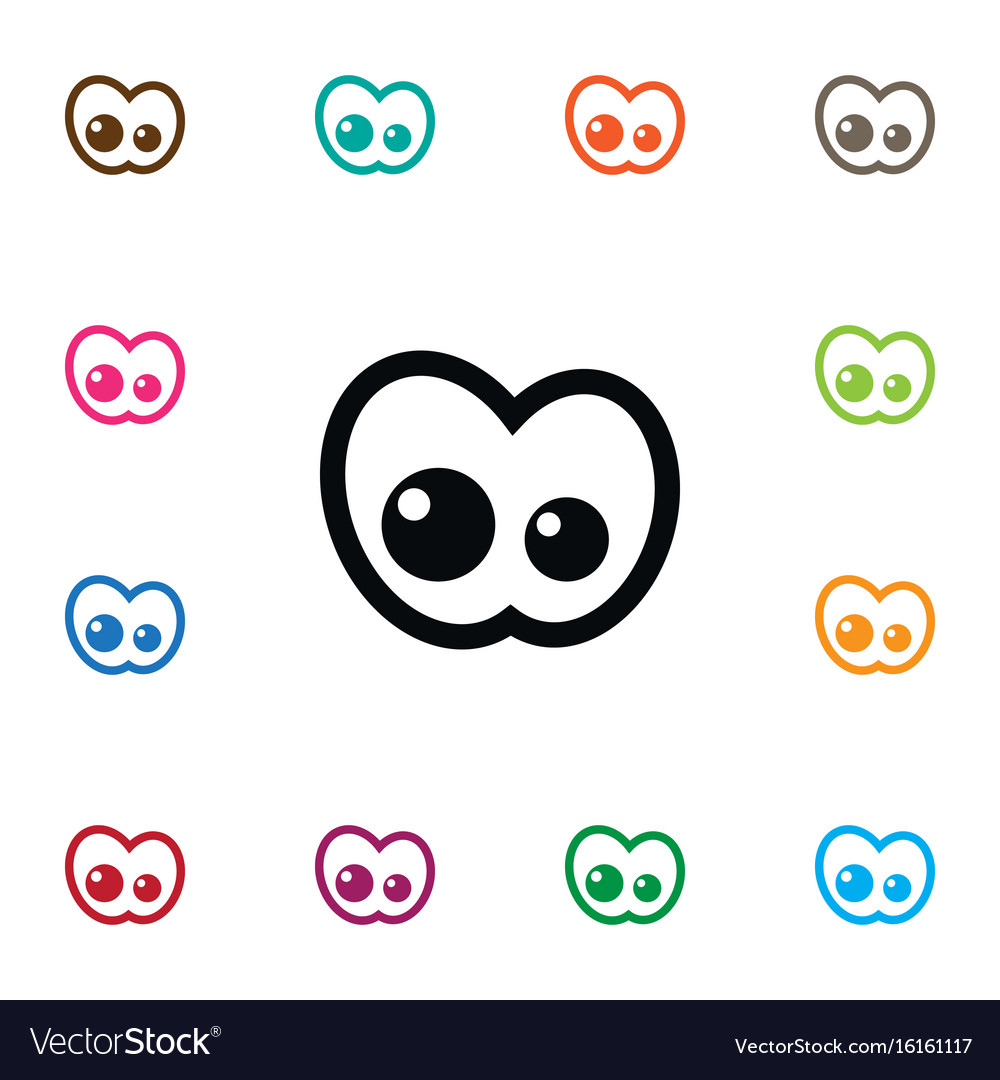 Isolated view icon eyeball element can be