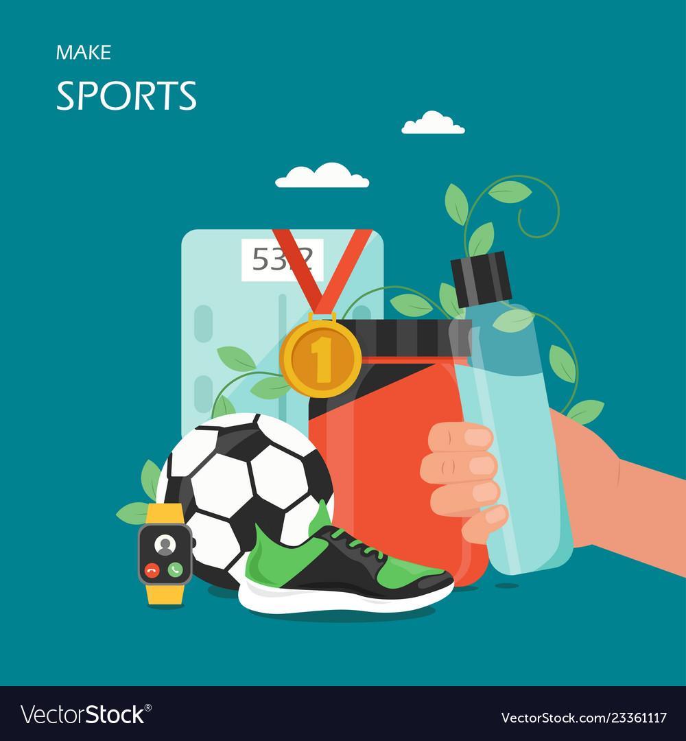 Make sports flat style design