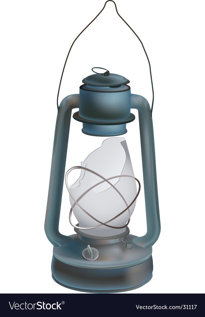Old Oil Lamp Vector Image
