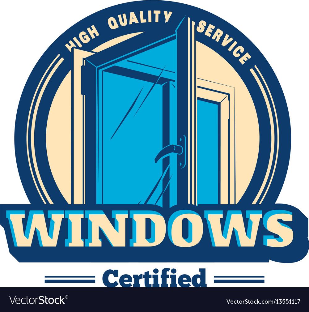 Plastic window logo