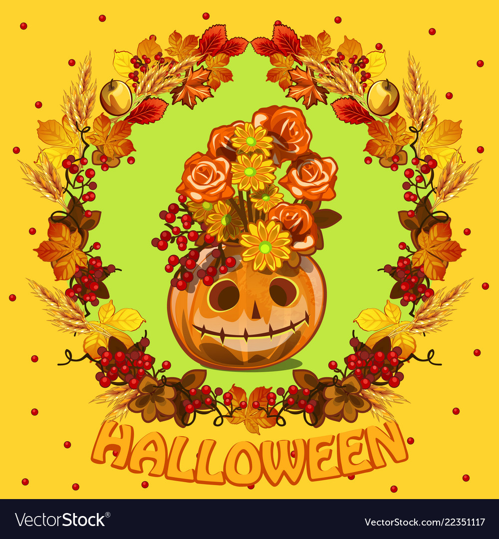 Poster on theme halloween holiday party cute
