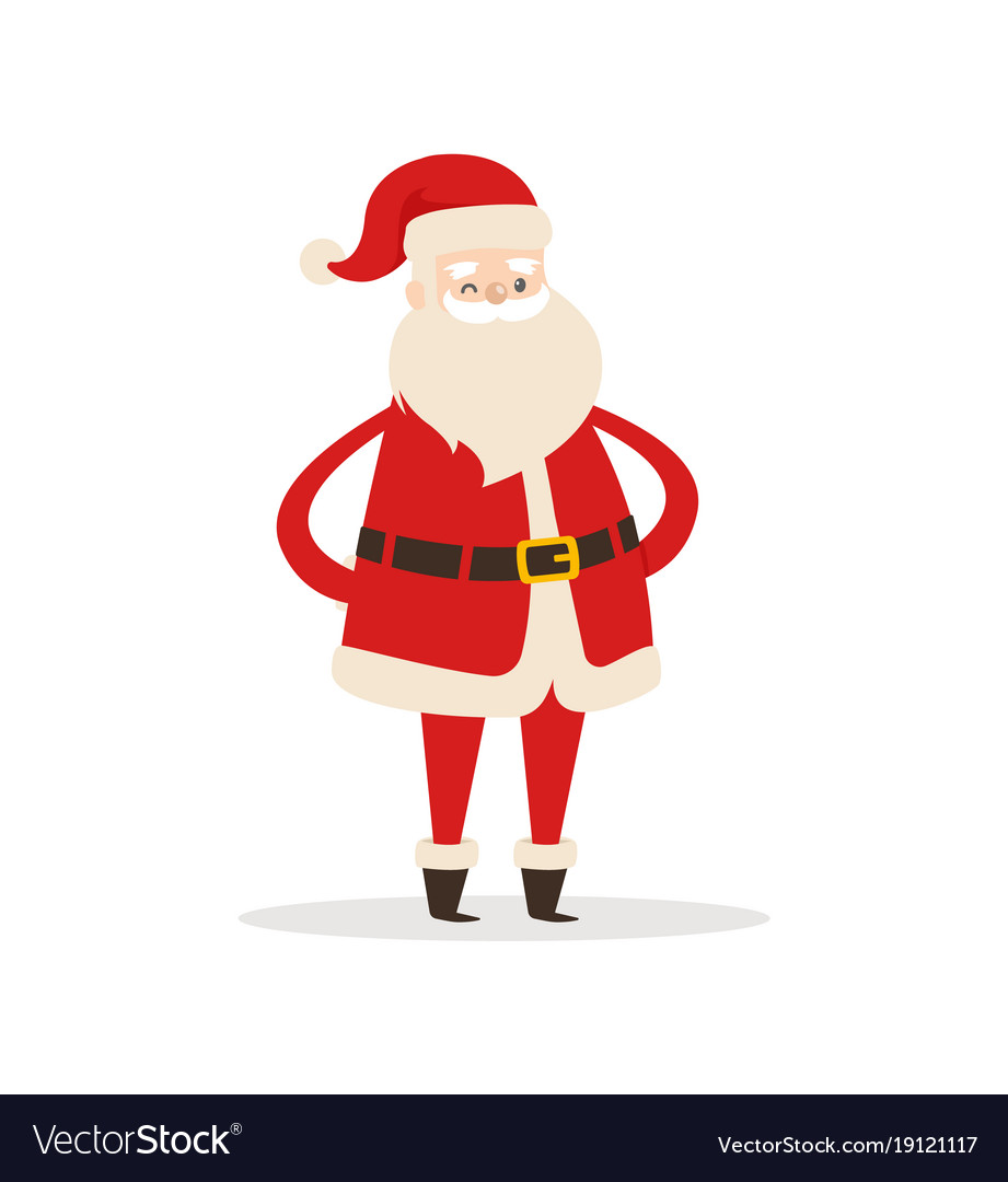Santa claus cartoon xmas character icon