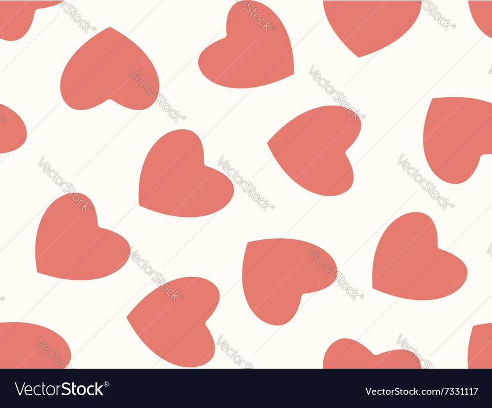 Seamless background of hearts in pastel color