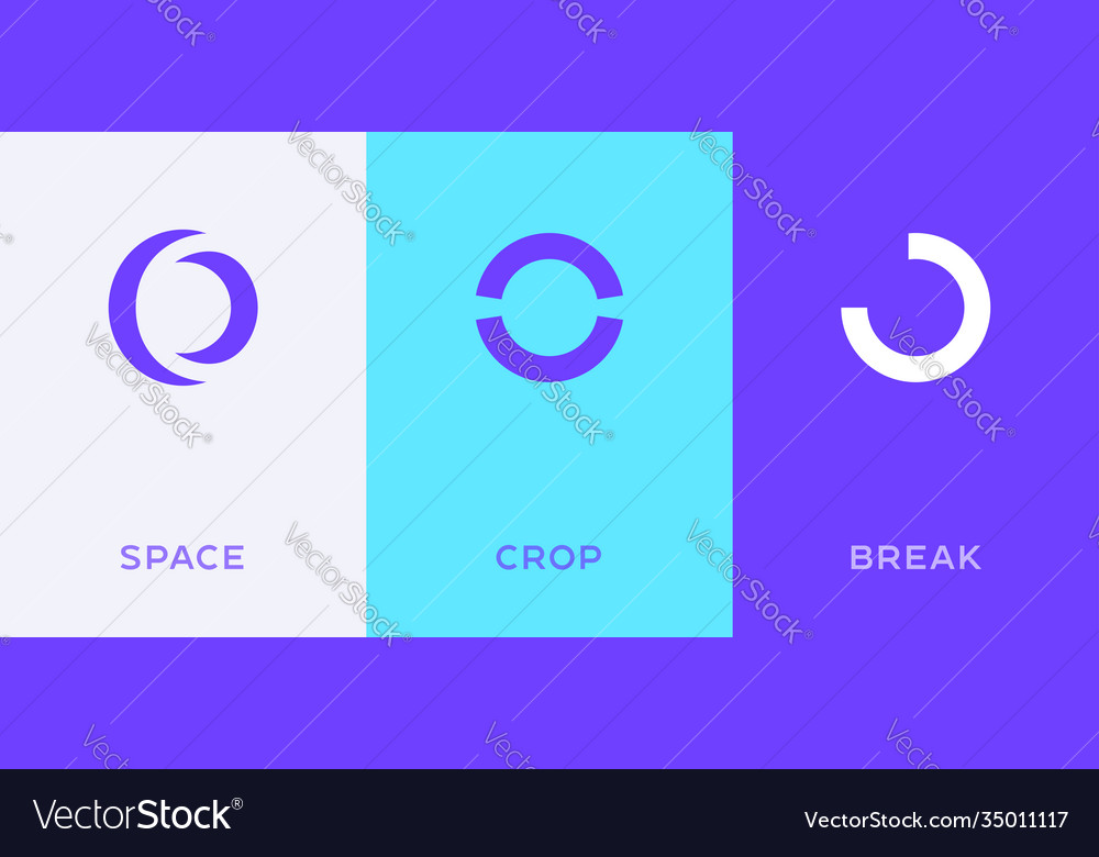 Set letter o or number 0 minimal logo icon vector