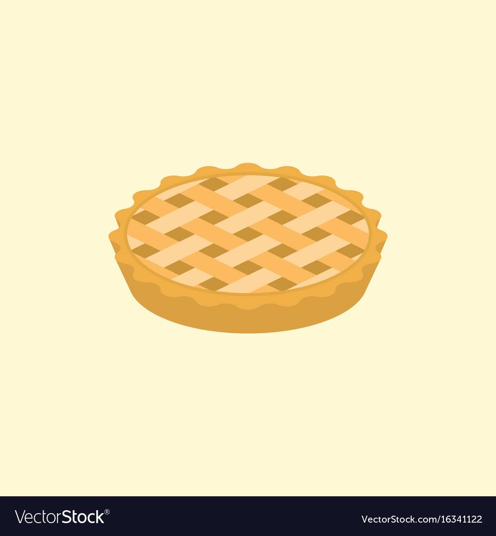 Crust pie vector image