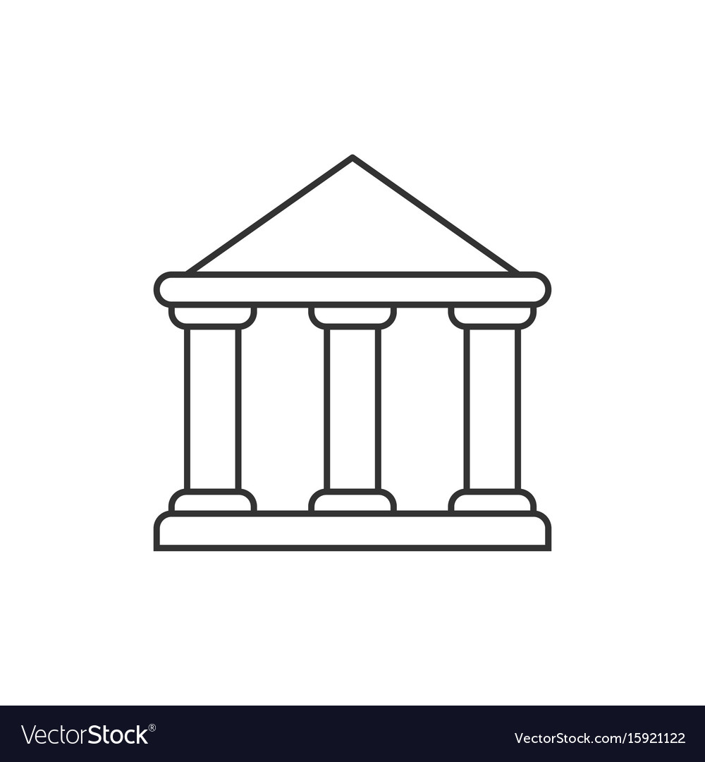 Government building outline icon vector image