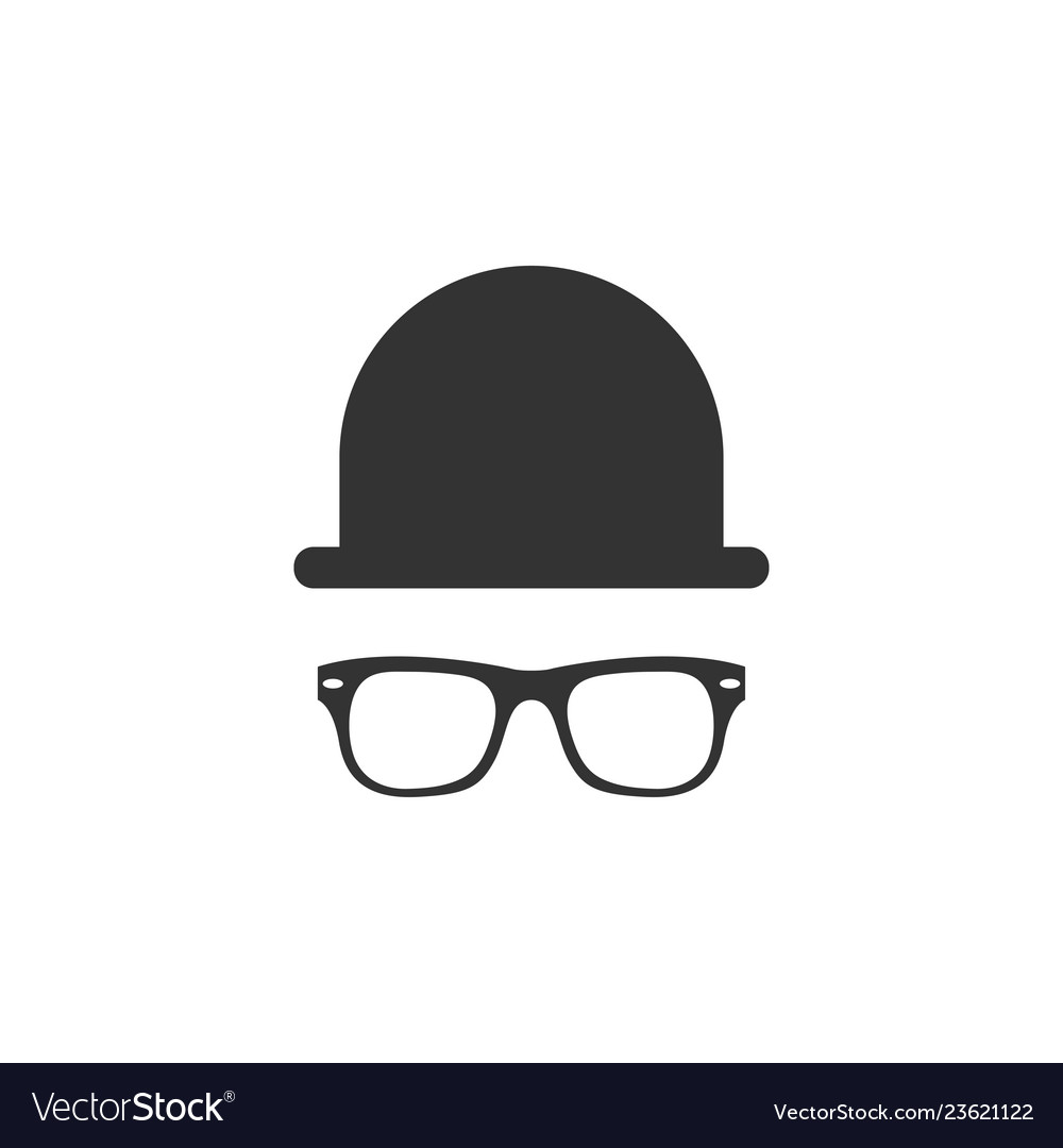 Hat and glasses icon graphic design template