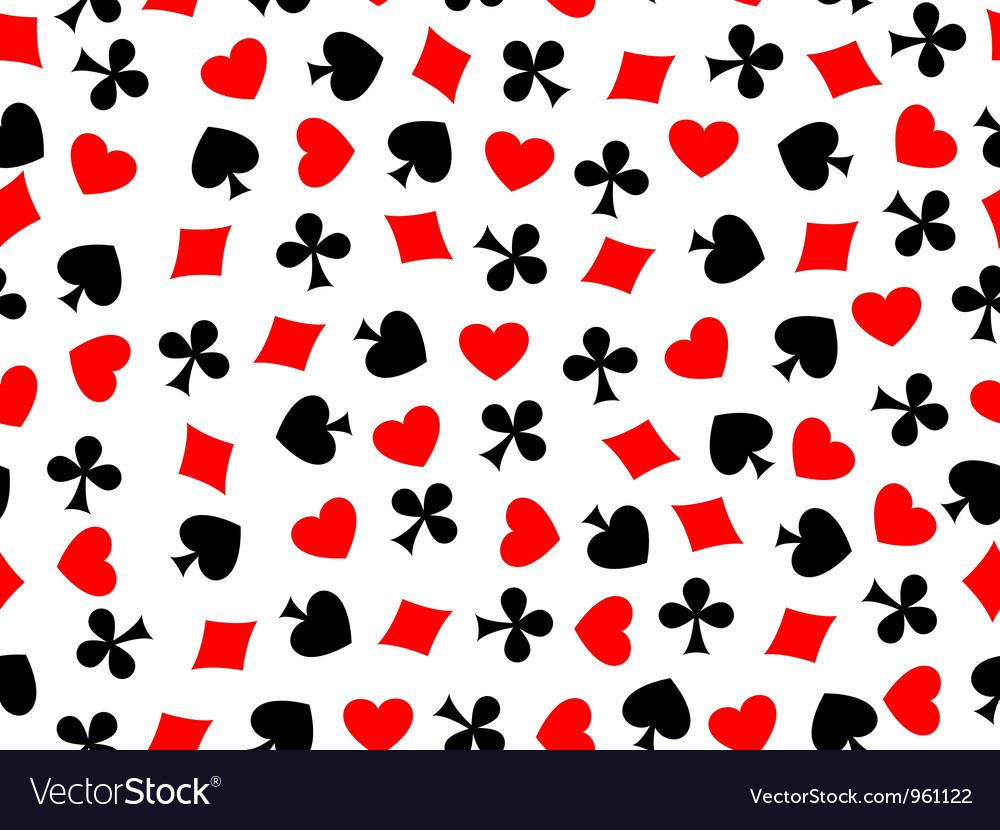 Heart clubs spades diamond seamless vector