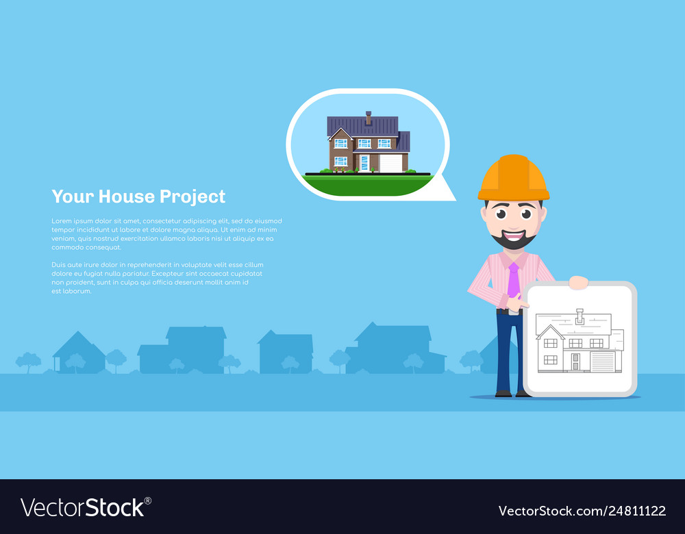 House project concept vector