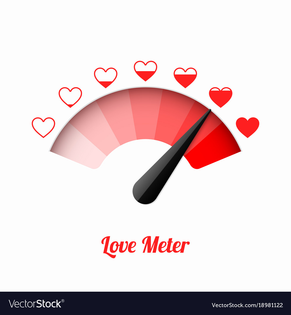 Love Meter Valentines Day Card Design Element Vector Image