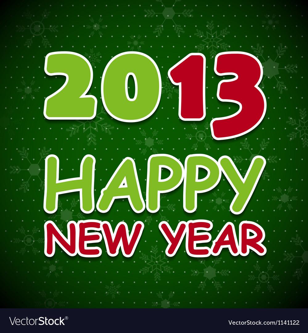 New 2013 year card