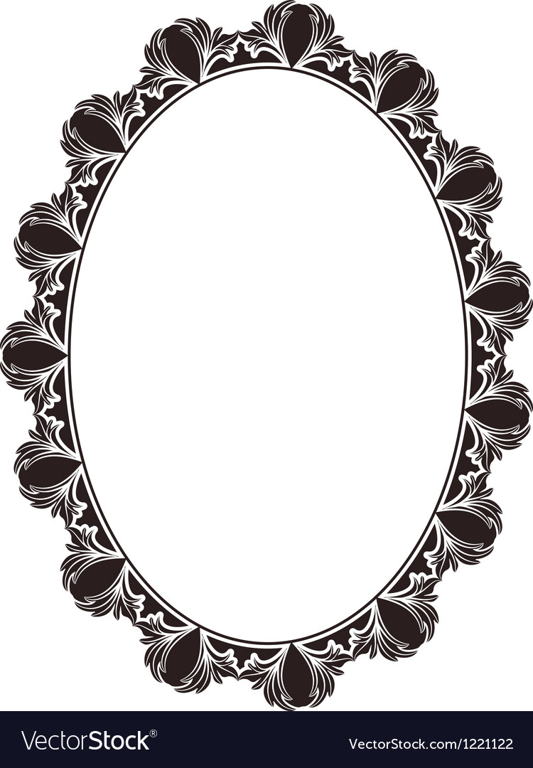 Oval frame Royalty Free Vector Image - VectorStock
